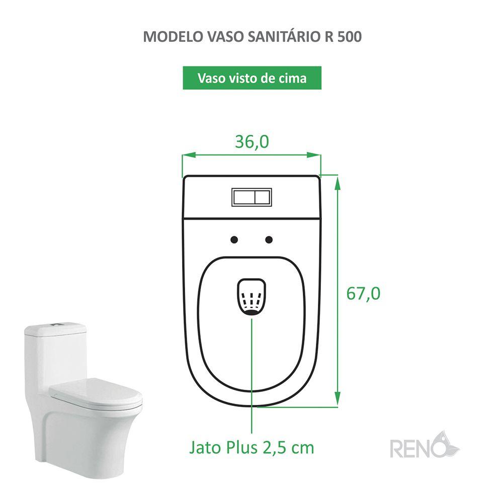 Vaso sanitário caixa acoplada Reno R 500