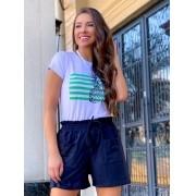 Conjunto de T-Shirt + Short com Estampa de Abacaxi