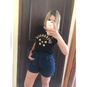 Short Clochard Jeans Escuro