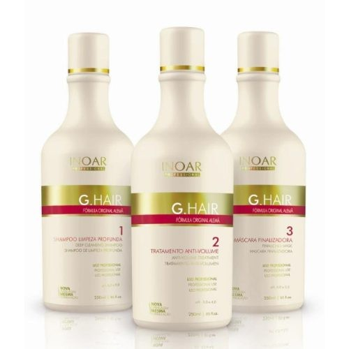 Escova Alemã - G-Hair - INOAR - 250ml - 3 Produtos