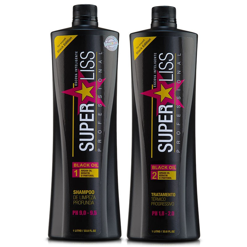 Escova Progressiva Super Liss BLACK - 2x1Litro - SuperLiss