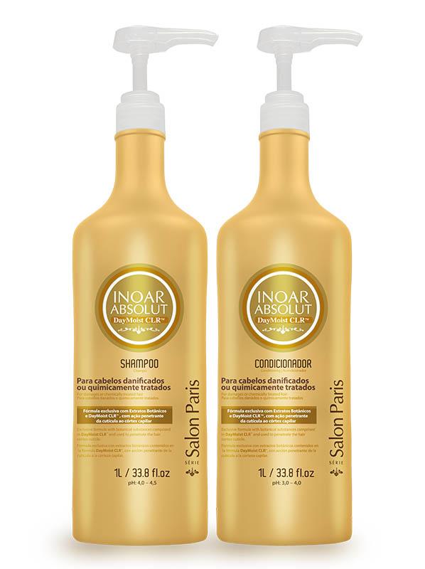 Inoar Absolut Daymoist Clr - Kit - 1 Litro - Shampoo + Cond.