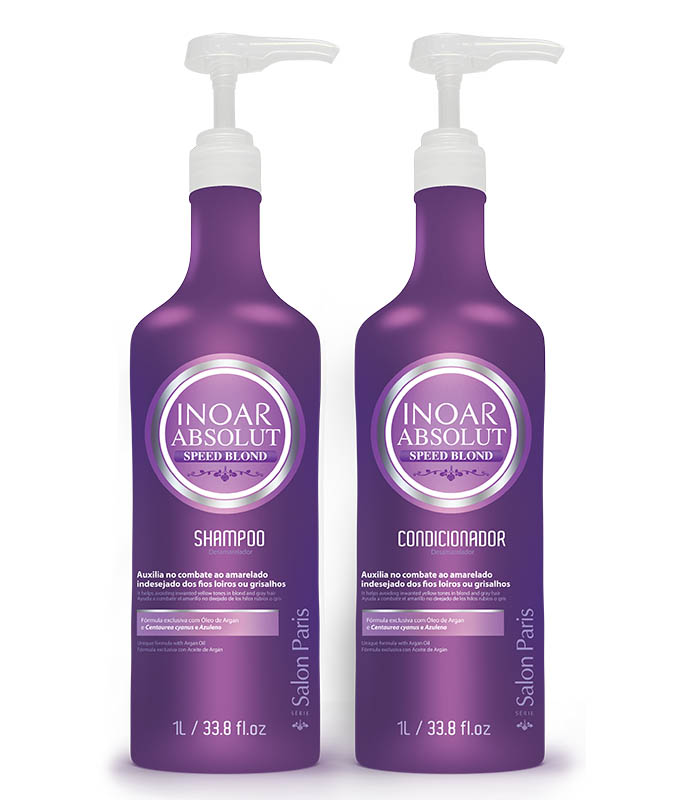 Inoar Absolut Speed Blond Duo - Kit 2X1 Litro - Shampoo E Cond.