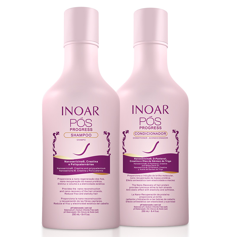 Kit DUO Pós Progress (Shampoo e Condicionador) 250ml - Inoar