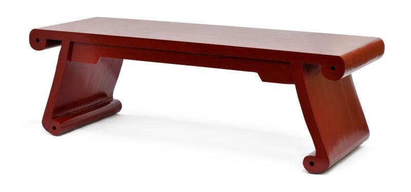 BANCO DE MADEIRA VERMELHO  - DECORASIA - Importadora de móveis e objetos