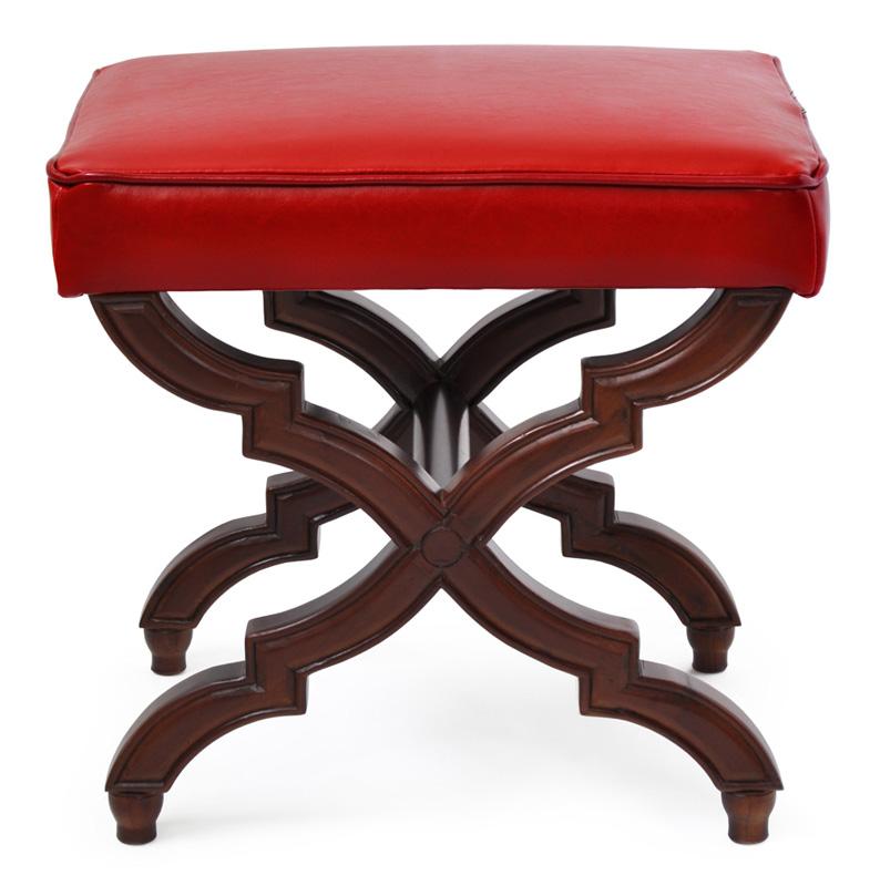 BANQUETA CHRISTIE RED  - DECORASIA - Importadora de móveis e objetos