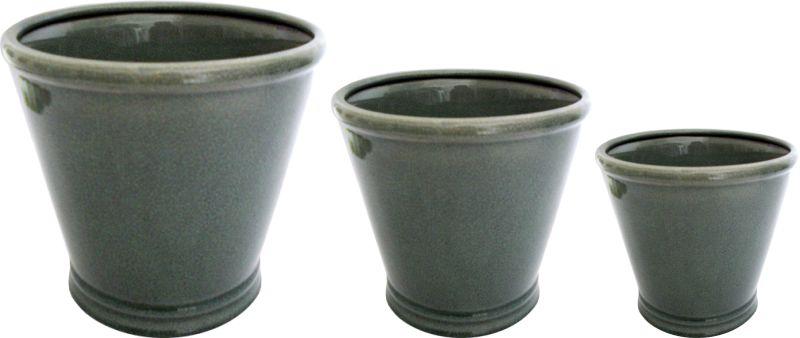 CACHEPOT CONE OLD GREEN  - DECORASIA - Importadora de móveis e objetos