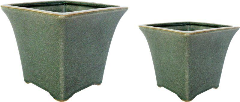 CACHEPOT OLD GREEN  - DECORASIA - Importadora de móveis e objetos