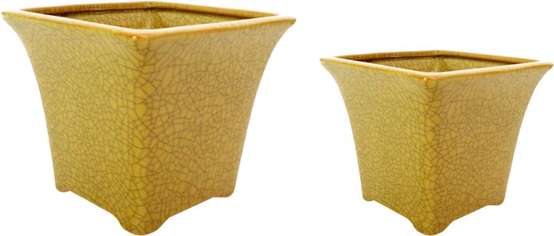 CACHEPOT OLD YELLOW  - DECORASIA - Importadora de móveis e objetos