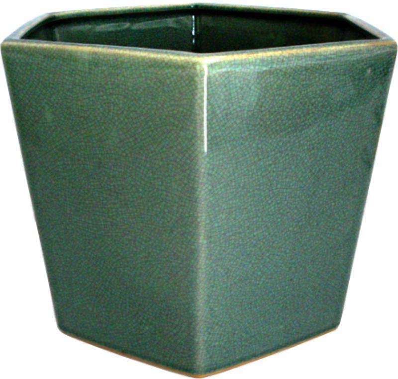 CACHEPOT SEXTAVADO OLD GREEN  - DECORASIA - Importadora de móveis e objetos