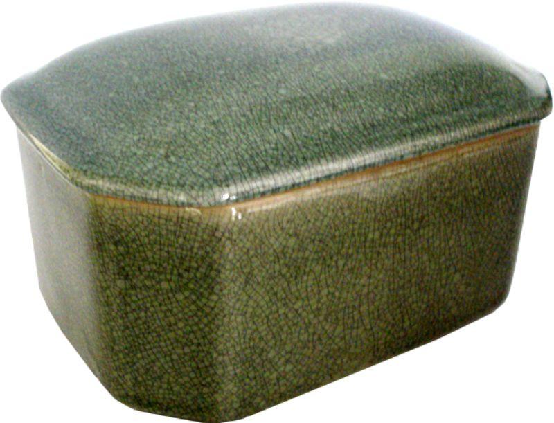 CAIXA OLD GREEN OCTAGONAL  - DECORASIA - Importadora de móveis e objetos