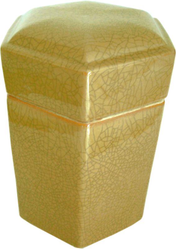 CAIXA OLD YELLOW HEXAGONAL  - DECORASIA - Importadora de móveis e objetos