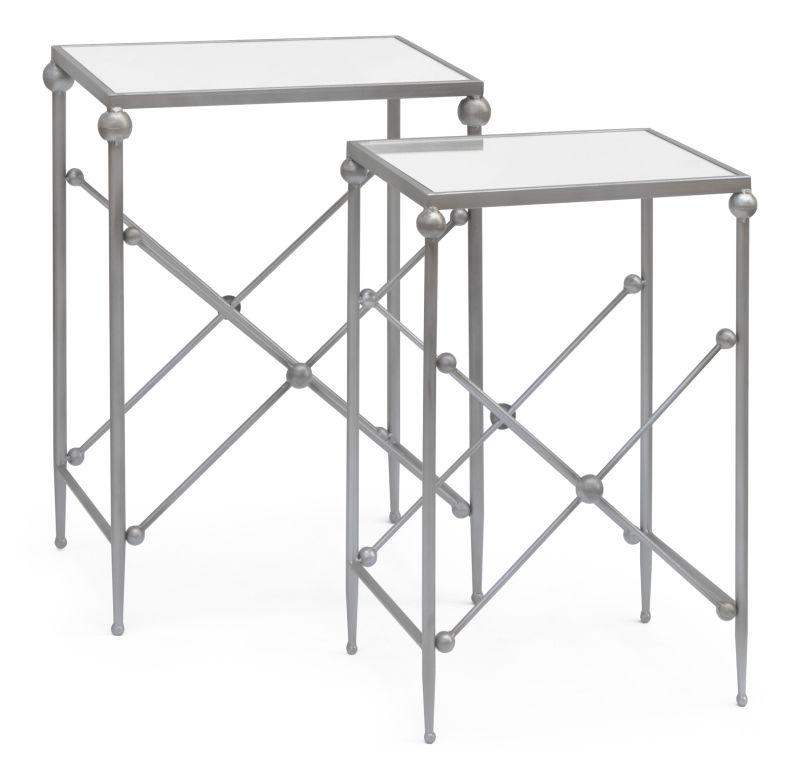 CONJUNTO MESA LATERAL AUSTIN ESPELHO  - DECORASIA - Importadora de móveis e objetos