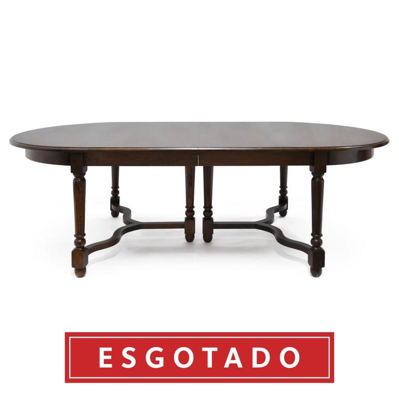 MESA DE JANTAR MADEIRA ESCURA  - DECORASIA - Importadora de móveis e objetos