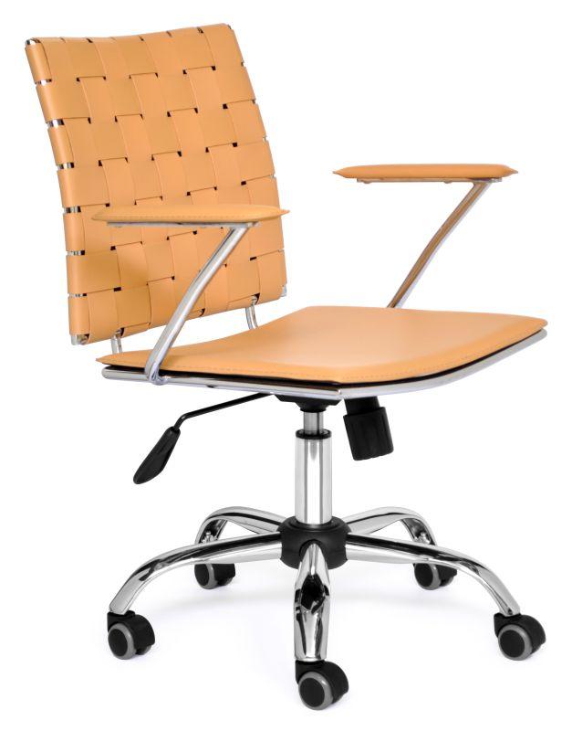 POLTRONA OFFICE COURO TRANÇADO  - DECORASIA - Importadora de móveis e objetos