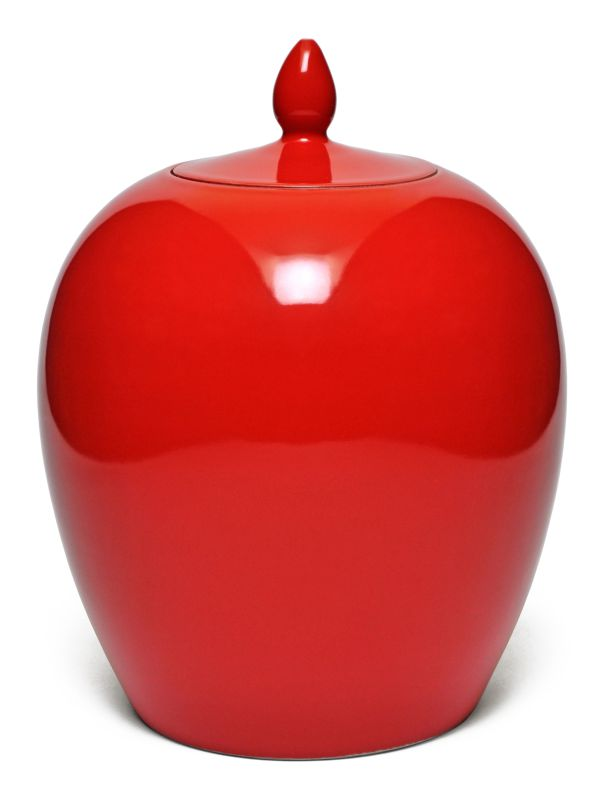 POTE BOJUDO COM TAMPA VERMELHO  - DECORASIA - Importadora de móveis e objetos