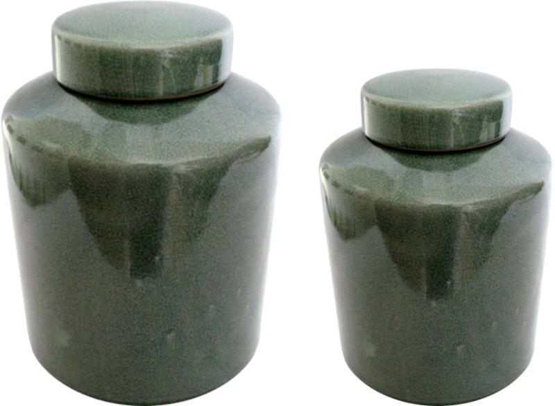 POTE COM TAMPA OLD GREEN  - DECORASIA - Importadora de móveis e objetos