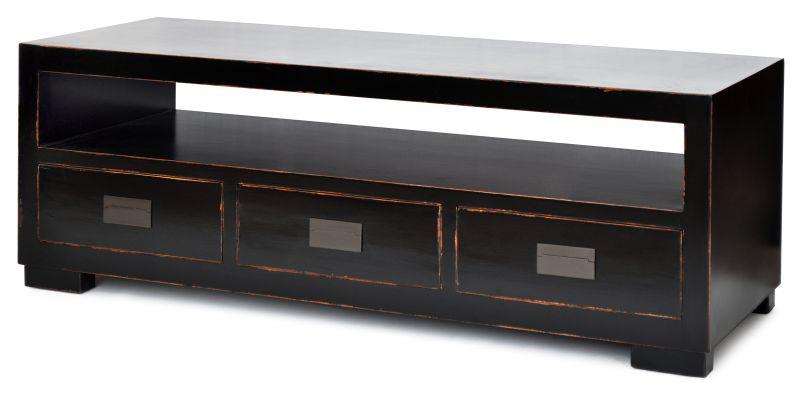 RACK MACAU PRETO  - DECORASIA - Importadora de móveis e objetos