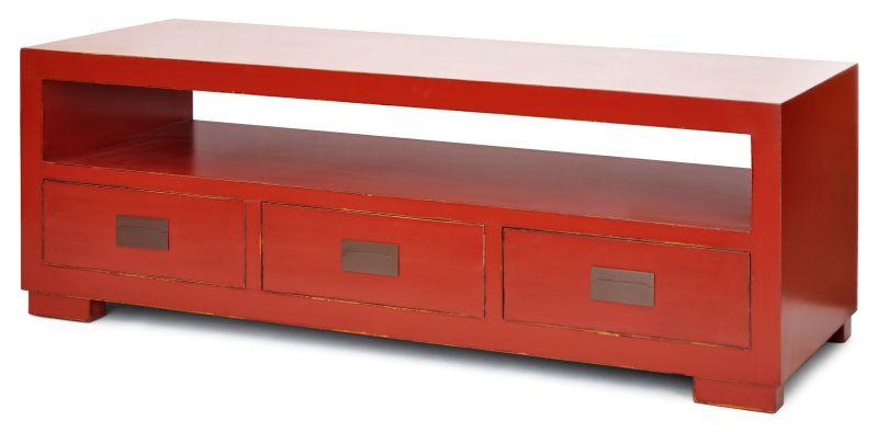 RACK MACAU VERMELHO  - DECORASIA - Importadora de móveis e objetos