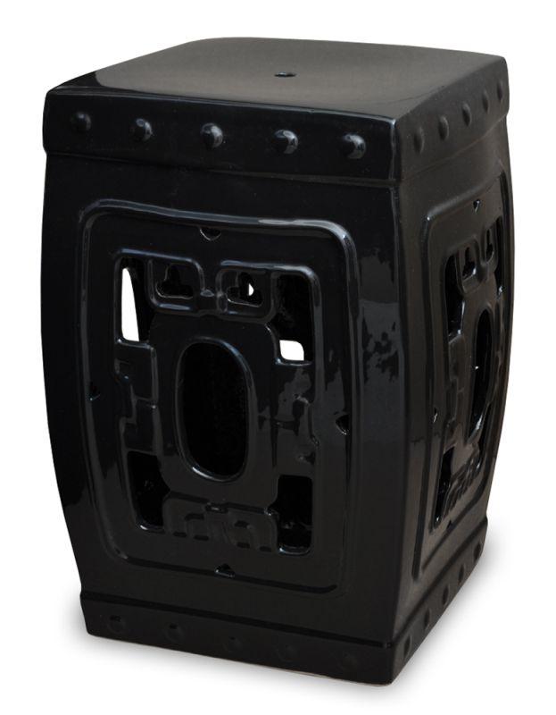 SEAT GARDEN DE PORCELANA PRETO SHANGAI  - DECORASIA - Importadora de móveis e objetos