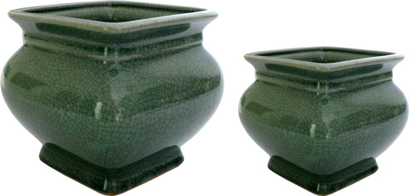 VASO CACHEPOT OLD GREEN  - DECORASIA - Importadora de móveis e objetos