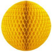 Balão GLOBO Bola de Papel de seda Cor Amarelo Ouro GiroToy Enfeites