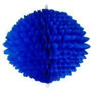 BOLA POM POM 580mm (58cm) Azulão Pompom de papel seda colmeia GiroToy Enfeites fazemos cores personalizadas - linda para decoração de mesa vitrine festas loja mercados concessionaria