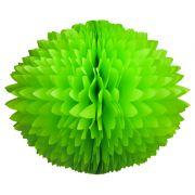 BOLA POM POM 580mm (58cm) Verde Claro Pompom de papel seda colmeia GiroToy Enfeites fazemos cores personalizadas - linda para decoração de mesa vitrine festas loja mercados concessionaria