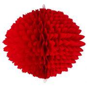 BOLA POM POM 580mm (58cm) Vermelho Pompom de papel seda colmeia GiroToy Enfeites fazemos cores personalizadas - linda para decoração de mesa vitrine festas loja mercados concessionaria