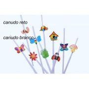 Enfeite de Papel / Canudo de PAPEL c/ JARDIM c/10 peças sortidas - GiroToy Enfeites