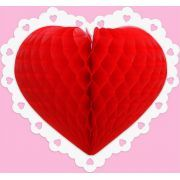 CORAÇÃO DUPLA FACE 230mm (23cm) Coração dia das Mães dia dos namorados decoração de casamento decoração de noivado itens para decorar teto entrada da igreja parede vitrine motel noite de nupcias