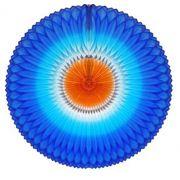 GIRASSOL 250mm (25cm) Tons de Azul c/ Laranja Girassol para decorar parede teto chá lingerie cha de cozinha cha de bebe cha revelação decoração primavera vitrine de lojas GiroToy
