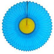 GIRASSOL 250mm (25cm) Turquesa c/ Amarelo Girassol para decorar parede teto chá lingerie cha de cozinha cha de bebe cha revelação decoração primavera vitrine de lojas GiroToy