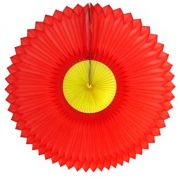 GIRASSOL 250mm (25cm) Vermelho c/ Amarelo Girassol para decorar parede teto chá lingerie cha de cozinha cha de bebe cha revelação decoração primavera vitrine de lojas GiroToy