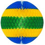 GLOBO 210mm (21cm) Bandeira do Brasil  Balão bola pompom de papel seda festa junina festa são joão ideia de decorações bolas de papel em brasilia minas gerais BH montes claros GiroToy Enfeites
