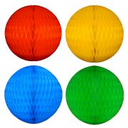 Balão GLOBO Bola de Papel de seda Cor A DEFINIR - após a compra defina a cor desejada - GiroToy Enfeites