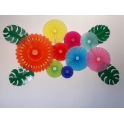 Kit Fioratas decoração Tropical Festa Havaiana com costela de Adão - GiroToy