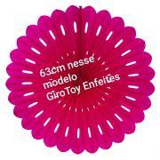 Leque De Papel Fioratas  kit com 6 peças - Painel Decorativo Com Fioratas Papel 6 Rosetas Vermelho GiroToy Enfeites