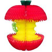 Enfeite de Papel seda Maça Frutas decorativas de papel de seda decoração havaiana festa do havai festa aloha frutas tropicais GiroToy