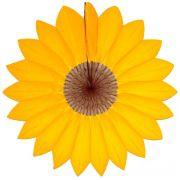Enfeite de Papel Seda - Margarida Primavera - Fiorata - Amarelo Ouro c/ Marrom GiroToy Ref. 11