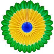 Enfeite de Papel de Seda Margarida Primavera - Fiorata - Cor do Brasil Decoração Copa do Mundo flores GiroToy