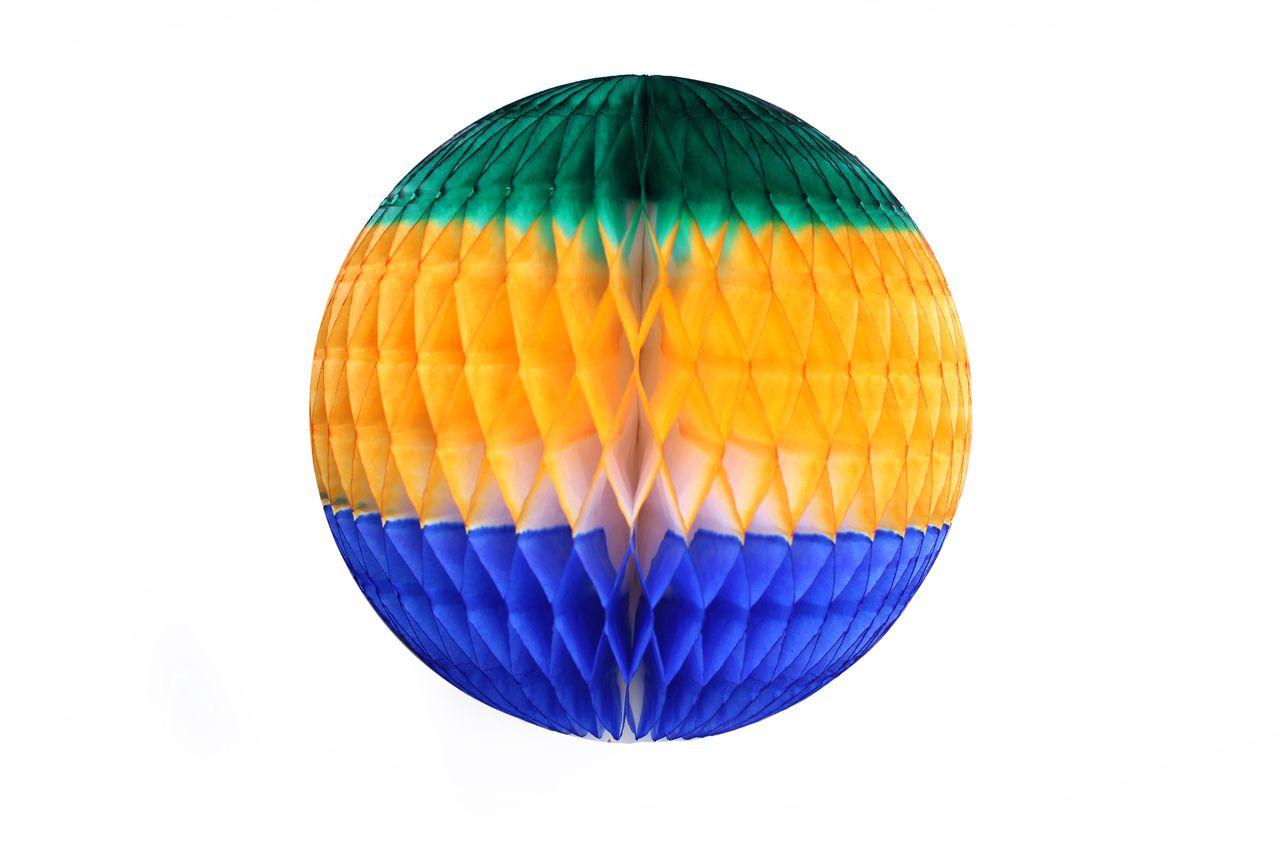 Balão GLOBO Bola de Papel de seda Cor Bandeira do Brasil GiroToy Enfeites