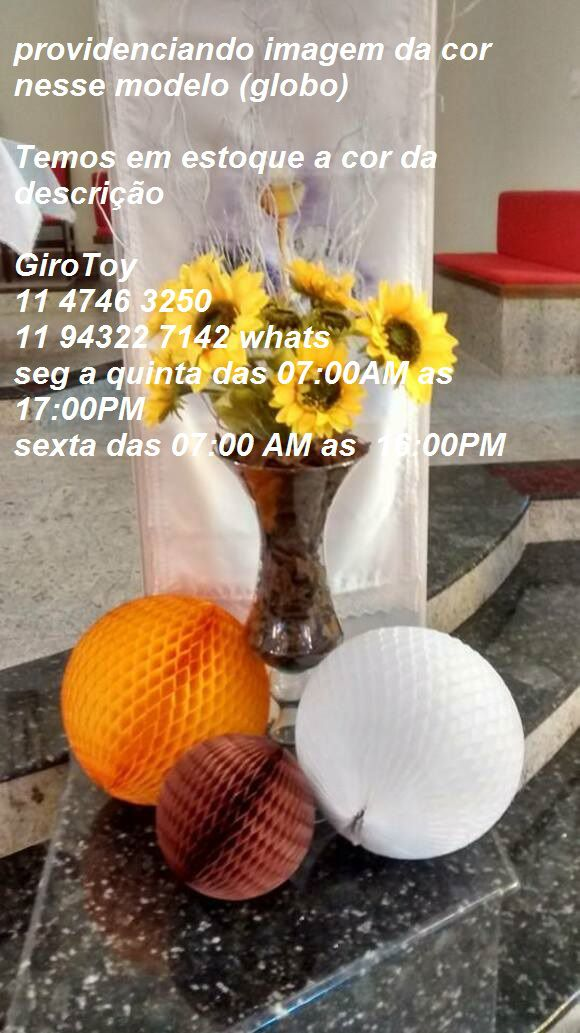 Balão GLOBO Bola de Papel de seda Cor MARROM GiroToy Enfeites