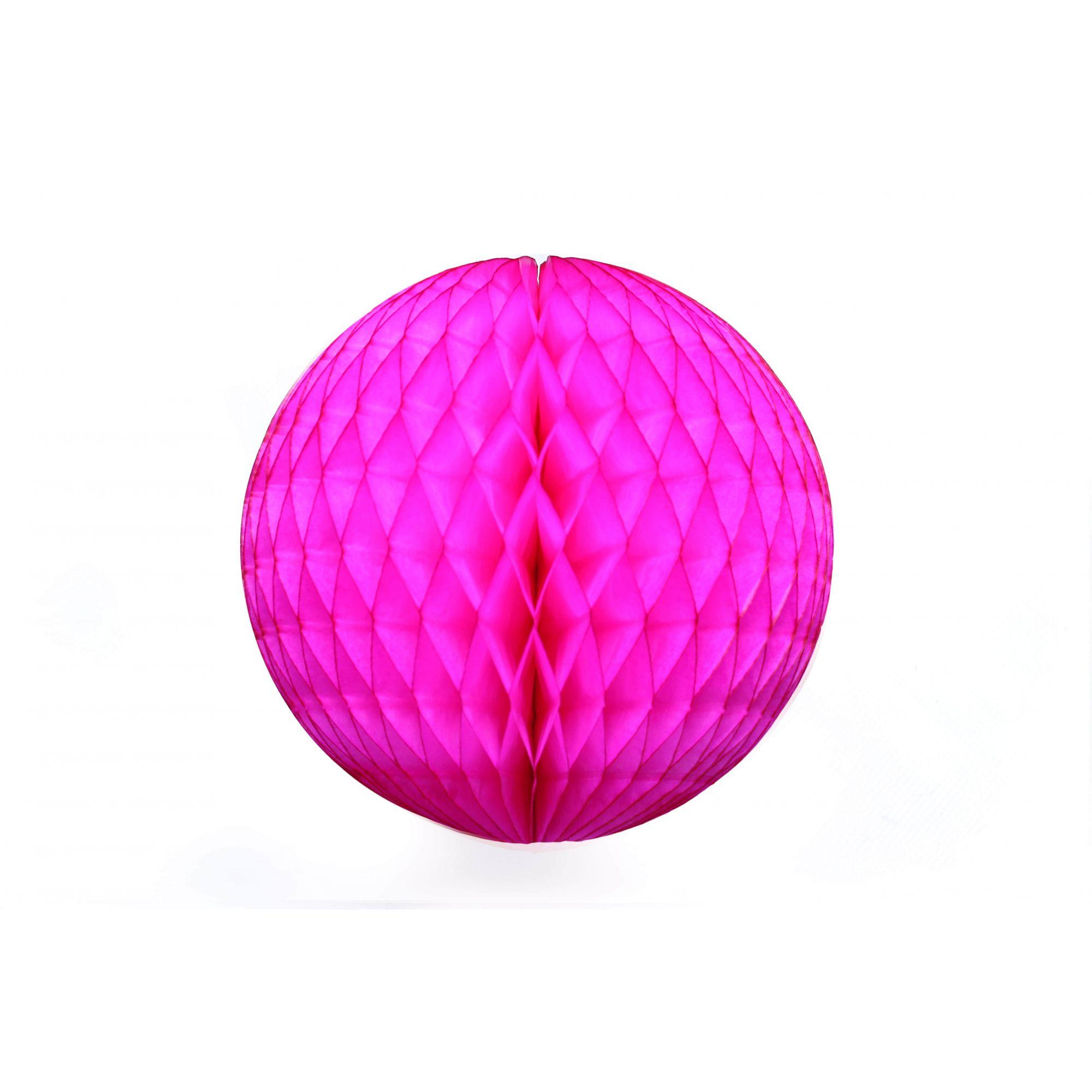 Balão GLOBO Bola de Papel de seda Cor PINK GiroToy Enfeites