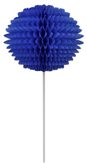 BOLA POM POM 130mm com HASTE Azulão Pompom de papel seda colmeia GiroToy Enfeites fazemos cores personalizadas