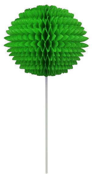 BOLA POMPOM 130mm com HASTE Verde Bandeira Pompom de papel seda colmeia GiroToy Enfeites fazemos cores personalizadas