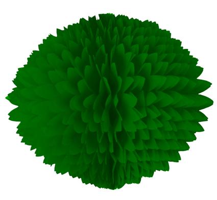 BOLA POM POM 280mm (28cm) Verde bandeira
