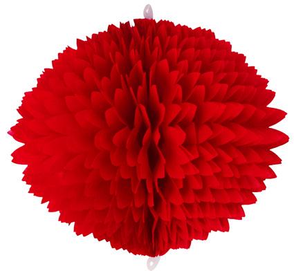 BOLA POM POM 280mm (28cm) Vermelha Pompom de papel seda colmeia GiroToy Enfeites fazemos cores personalizadas - linda para decoração de mesa vitrine festas loja mercados concessionaria