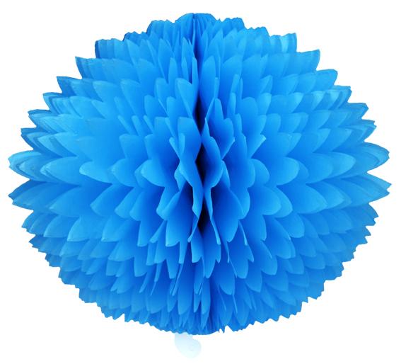 BOLA POM POM Azul Turquesa Pompom de papel seda colmeia GiroToy Enfeites fazemos cores personalizadas