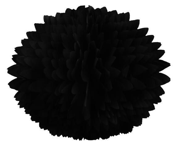 BOLA POM POM 580mm (58cm) Preto Pompom de papel seda colmeia GiroToy Enfeites fazemos cores personalizadas - linda para decoração de mesa vitrine festas loja mercados concessionaria